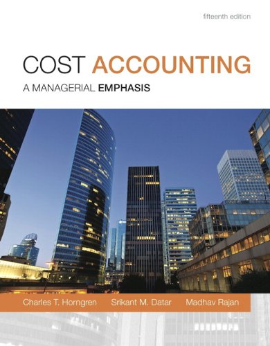9780133428858: Cost Accounting: A Managerial Emphasis