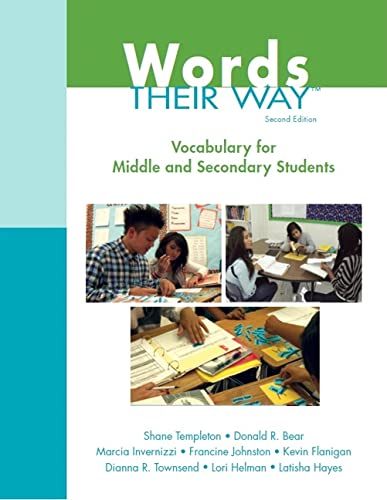 9780133431032: Vocabulary Their Way: Word Study with Middle and Secondary Students