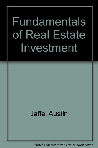 9780133434507: Fundamentals of Real Estate Investment