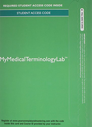 9780133436563: MyMedicalTerminologyLab without Pearson eText -- Access Card -- for Medical Terminology for Health Care Professionals