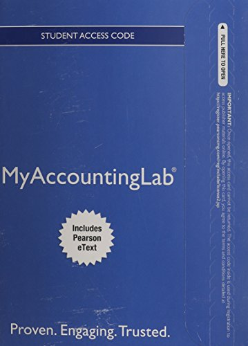 9780133437287: NEW MyAccountingLab with Pearson eText -- Access Card -- for Financial Accounting