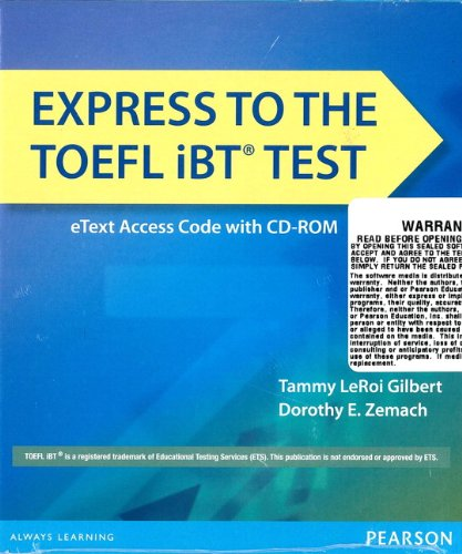 9780133438031: Express to the TOEFL Ibt Test Etext (Folder with Access Code ) [With CDROM]