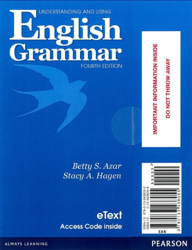 9780133438055: Understanding and Using English Grammar eTEXT with Audio; without Answer Key (Access Card) (4th Edition)