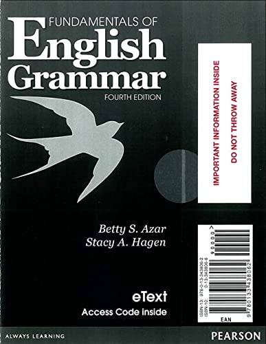 9780133438062: Fundamentals of English Grammar eTEXT with Audio; without Answer Key (Access Card) (4th Edition)
