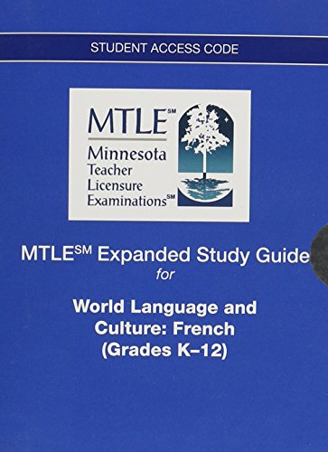 9780133438840: MTLE Expanded Study Guide -- Access Card -- for World Language and Culture/French (Grades K-12)