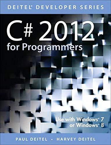 9780133440577: C# 2012 for Programmers (5th Edition) (Deitel Developer Series)