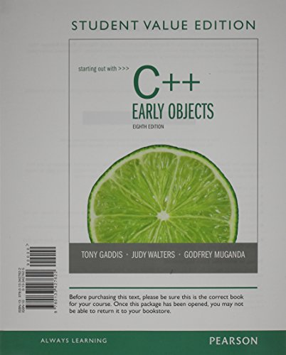 9780133441833: Starting Out with C++ Early Objects, Student Value Edition plus MyProgrammingLab with Pearson eText -- Access Card Package (8th Edition)