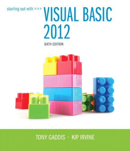9780133441871: Starting Out With Visual Basic 2012 plus MyProgrammingLab with Pearson eText -- Access Card Package (6th Edition)