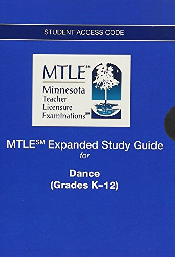 9780133443868: MTLE Expanded Study Guide -- Access Card -- for Dance (Grades K-12)