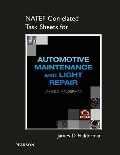 9780133444308: NATEF Correlated Task Sheets for Automotive Maintenance and Light Repair