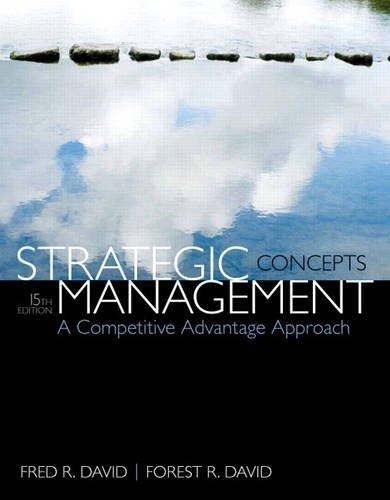 9780133444896: Strategic Management: A Competitive Advantage Approach, Concepts (15th Edition)