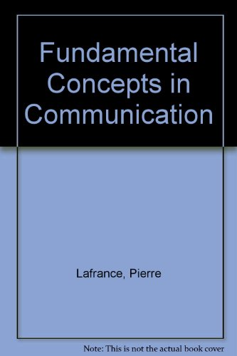 9780133446159: Fundamental Concepts in Communication