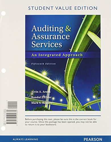 9780133448733: Auditing and Assurance Services, Student Value Edition Plus NEW MyAccountingLab with Pearson eText -- Access Card Package (15th Edition)