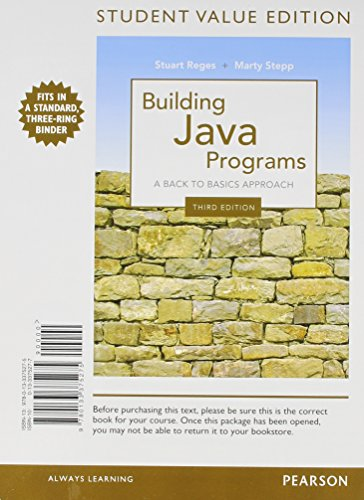 9780133451023: Student Value Edition of Building Java Programs plus MyProgrammingLab with Pearson eText -- Access Card Package (3rd Edition)
