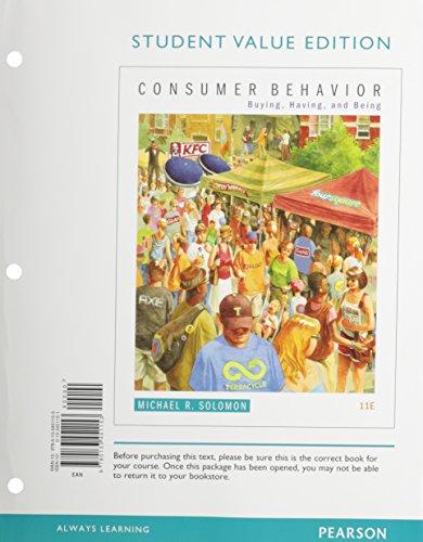 Consumer Behavior: Buying, Having, and Being, Student: Solomon, Michael R.