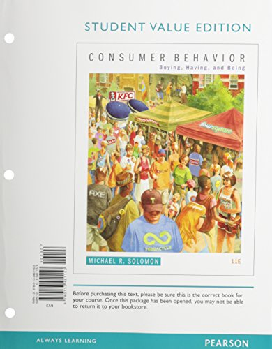 9780133451153: Consumer Behavior: Buying, Having, and Being, Student Value Edition (11th Edition)