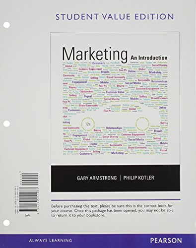 9780133451283: Marketing: An Introduction, Student Value Edition (12th Edition)