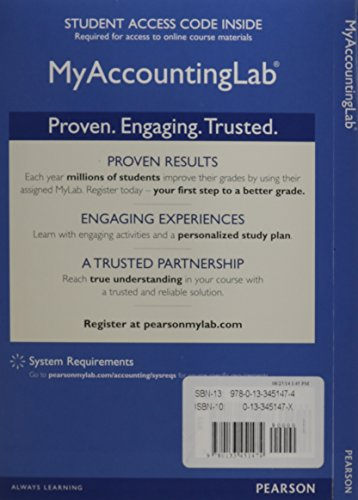 9780133451474: NEW MyAccountingLab with Pearson eText -- Access Card -- for Cost Accounting