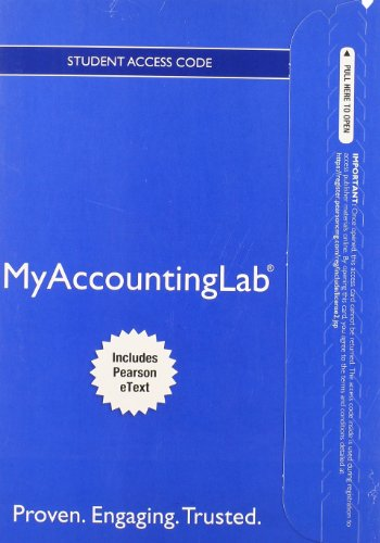 9780133451481: NEW MyLab Accounting with Pearson eText -- Access Card -- for Managerial Accounting