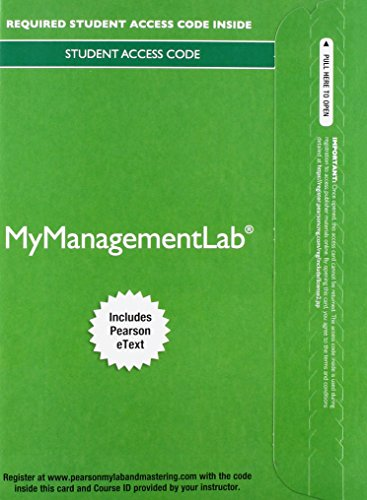 9780133451832: 2014 MyManagementLab with Pearson eText -- Access Card -- for Strategic Management: A Competitive Advantage Approach, Concepts & Cases