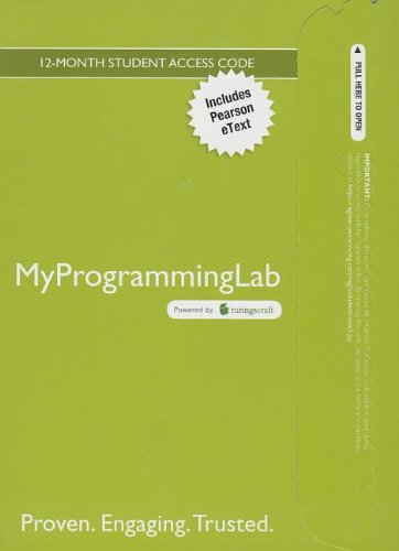 9780133452259: MyProgrammingLab with Pearson eText -- Access Code Card -- for Starting Out with C++: Early Objects