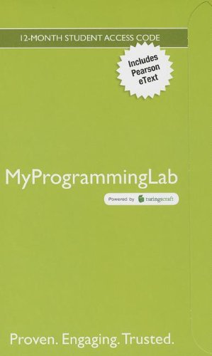 9780133452341: MyProgrammingLab with Pearson eText -- Access Code Card -- for Starting Out With Visual Basic (MyProgrammingLab (Access Codes))