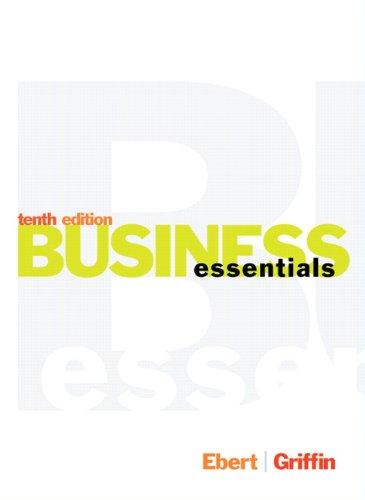 Business Essentials Student (10th) [Jan 13 2014]