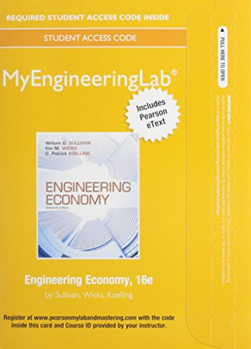 9780133455342: NEW MyEngineeringLab with Pearson eText -- Access Card -- Engineering Economy