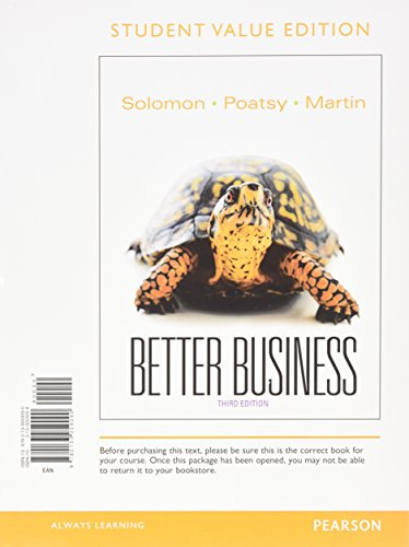 9780133455427: Better Business, Student Value Edition & NEW MyBizLab with Pearson eText -- Access Card Package