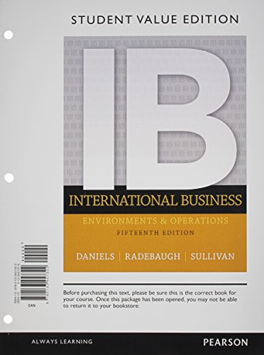9780133457322: International Business, Student Value Edition (15th Edition)