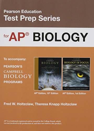 9780133458145: Preparing for the Biology AP* Exam (School Edition) (Pearson Education Test Prep)