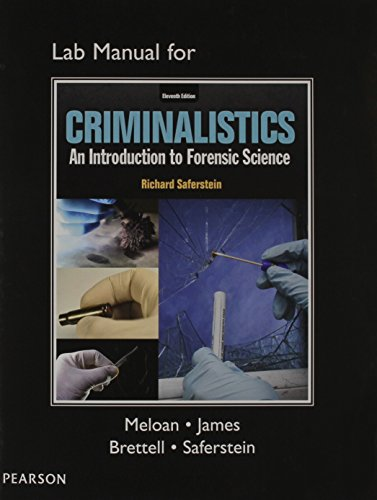 9780133458893: Lab Manual for Criminalistics: An Introduction to Forensic Science