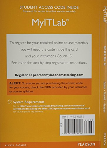 9780133459838: MyITLab with Pearson eText -- Access Card -- for GO! All In One Computer Concepts and Applications (Spectrum Book)