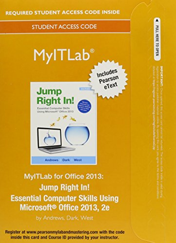 9780133459890: MyITLab with Pearson eText -- Access Card -- for Jump Right In