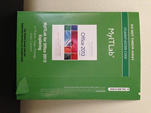 9780133460483: MyITLab -- Access Card -- for Exploring Microsoft Office 2013 Volume 1