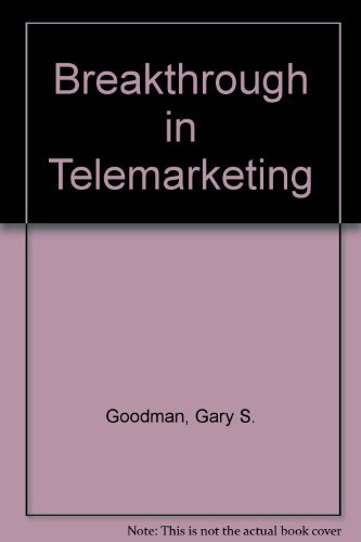 9780133468915: Breakthrough in Telemarketing