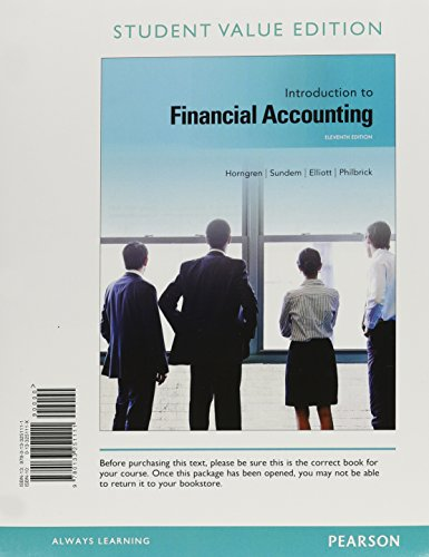 9780133473391: Introduction to Financial Accounting, Student Value Edition Plus NEW MyLab Accounting with Pearson eText -- Access Card Package (11th Edition)