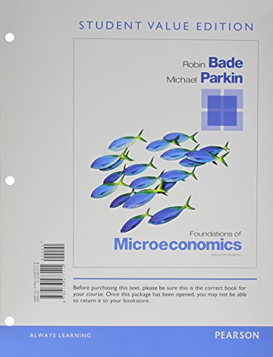 9780133477115: Foundations of Microeconomics, Student Value Edition (7th Edition)