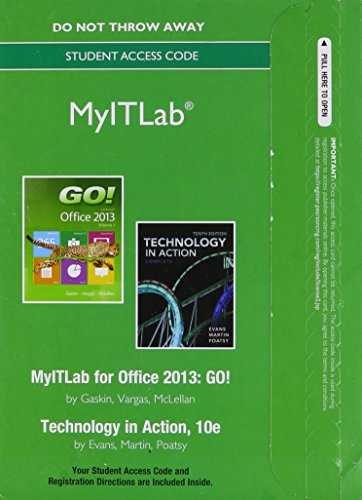 9780133481822: MyITLab -- Access Card -- for GO! with  Technology in Action