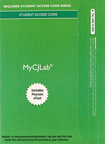 9780133482157: MyCJLab with Pearson eText -- Access Card -- for Criminalistics: An Introduction to Forensic Science