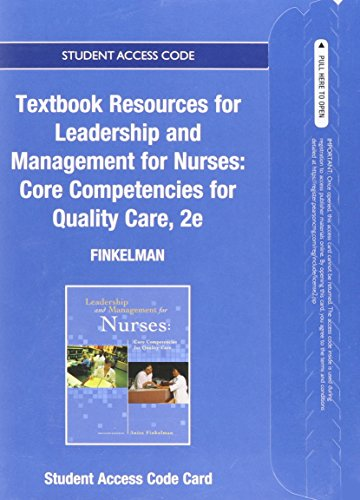 9780133482379: Textbook Resources Leadership and Management for Nurses: Core Competencies for Quality Care -- Access Card