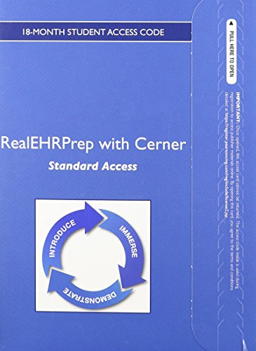 RealEHRPrep with Cerner: Standard -- Student Access Card (18-month): Pearson Education