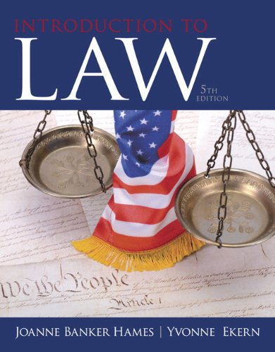9780133484564: Introduction to Law (5th Edition)
