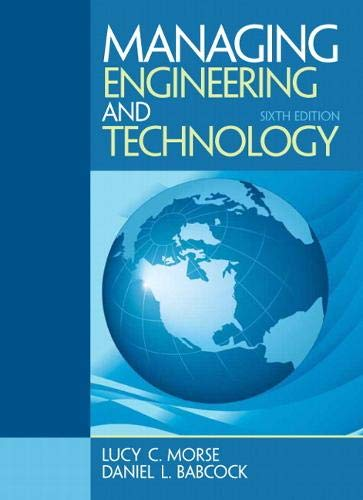 9780133485103: Managing Engineering and Technology (6th Edition)
