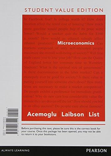 9780133487220: Microeconomics, Student Value Edition (Pearson Series in Finance)
