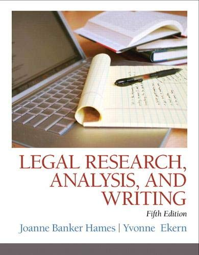 9780133495034: Legal Research, Analysis, and Writing (5th Edition)