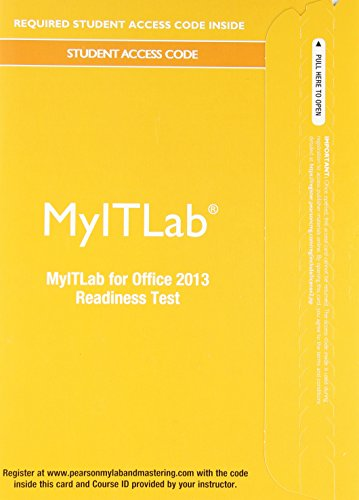 9780133495065: MyITLab Without Pearson eText - Access Card - For Office 2013 [Readiness Testing]