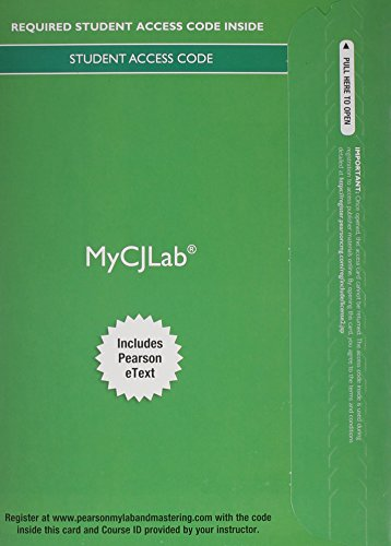 9780133495362: MyCJLab with Pearson eText -- Access Card -- Criminal Procedure: From First Contact to Appeal