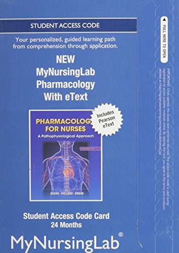 9780133497816: NEW MyNursingLab with Pearson eText -- Access Card -- for Pharmacology for Nurses (24-month access)