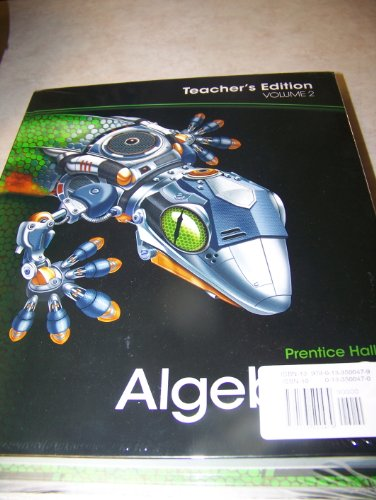 9780133500479: Prentice Hall Algebra 2 Teacher's Edition Volumes 1 & 2